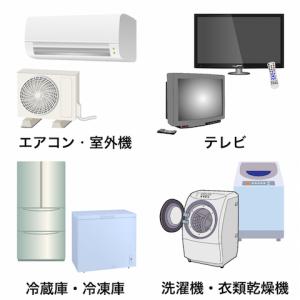 家電リサイクル対象の4品目
