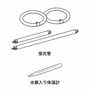有害ごみ:蛍光管,水銀入り体温計